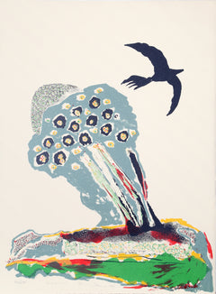 Benny Andrews, Black Bird Lithograph - RoGallery