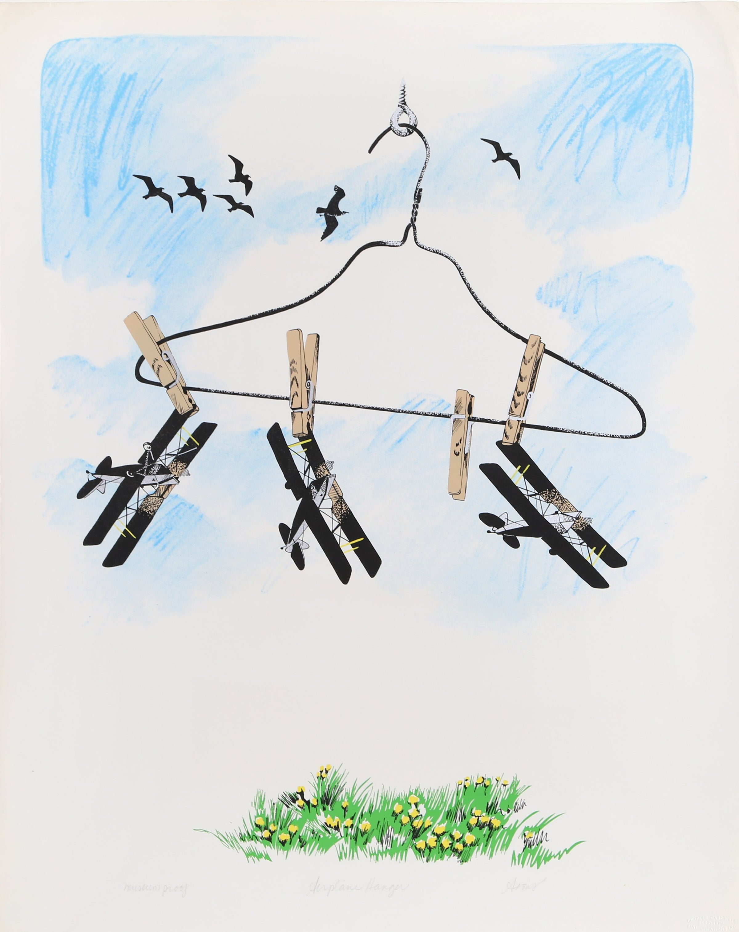 Joyce Arons, Airplane Hanger Lithograph - RoGallery