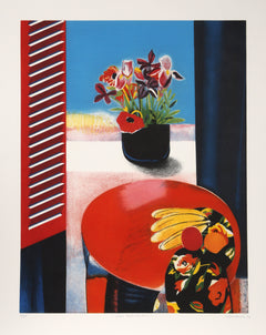 Walter Bachinski, Irises, Poppies and Fruit Etching - RoGallery