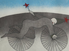 Peter Barger, Bicycle Man Etching - RoGallery