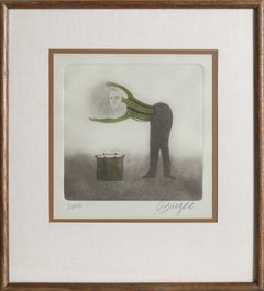 Peter Barger, Drummer Etching - RoGallery