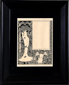 Aubrey Beardsley, Salome (Border Design with Woman) Lithograph - RoGallery