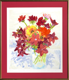 Nell Blaine, Jestina's Reds Lithograph - RoGallery