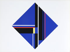 Ilya Bolotowsky, Blue Diamond II Screenprint - RoGallery