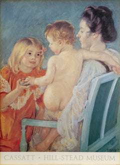 Mary Cassatt, Sara Handing a Toy to the Baby Poster - RoGallery