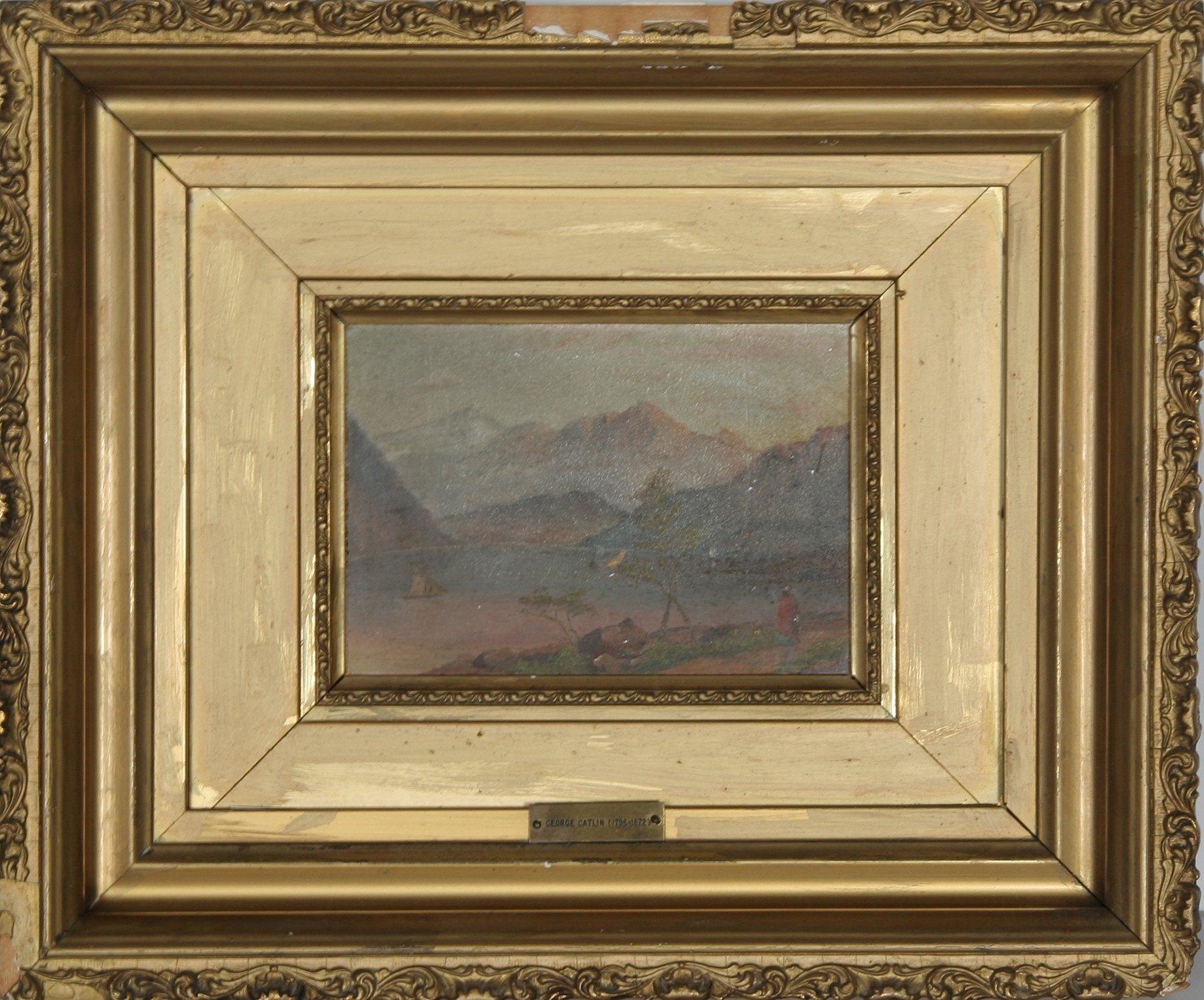 George Catlin, Mountain Landscape Oil - RoGallery