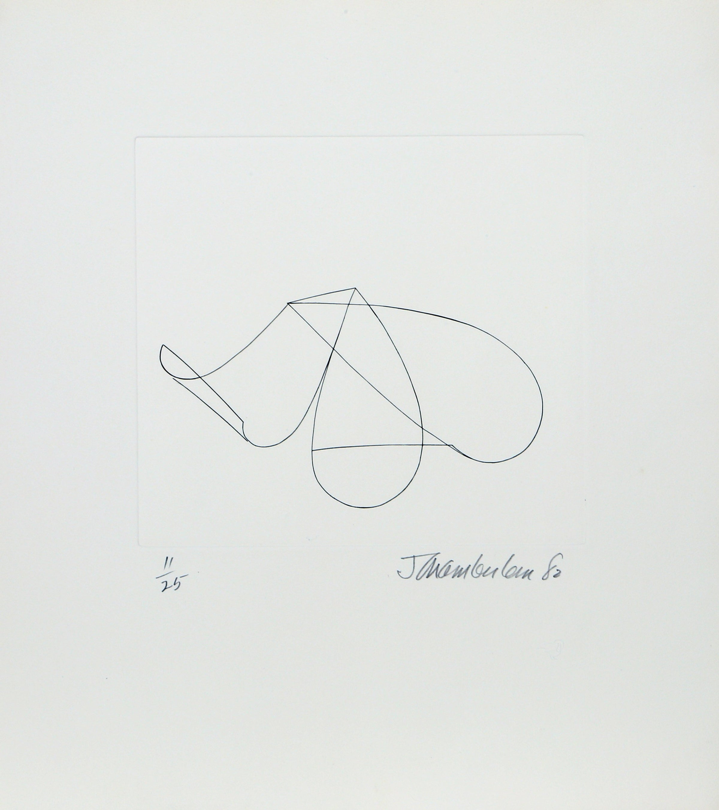 John Chamberlain, Linear Abstract 2 Etching - RoGallery