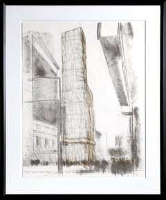 Christo and Jeanne-Claude, Allied Chemical Tower, Packed, Project for Number 1 Times Square Lithograph - RoGallery