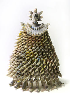 Alejandro Colunga, Man with a Coat of Fishes Ceramic - RoGallery
