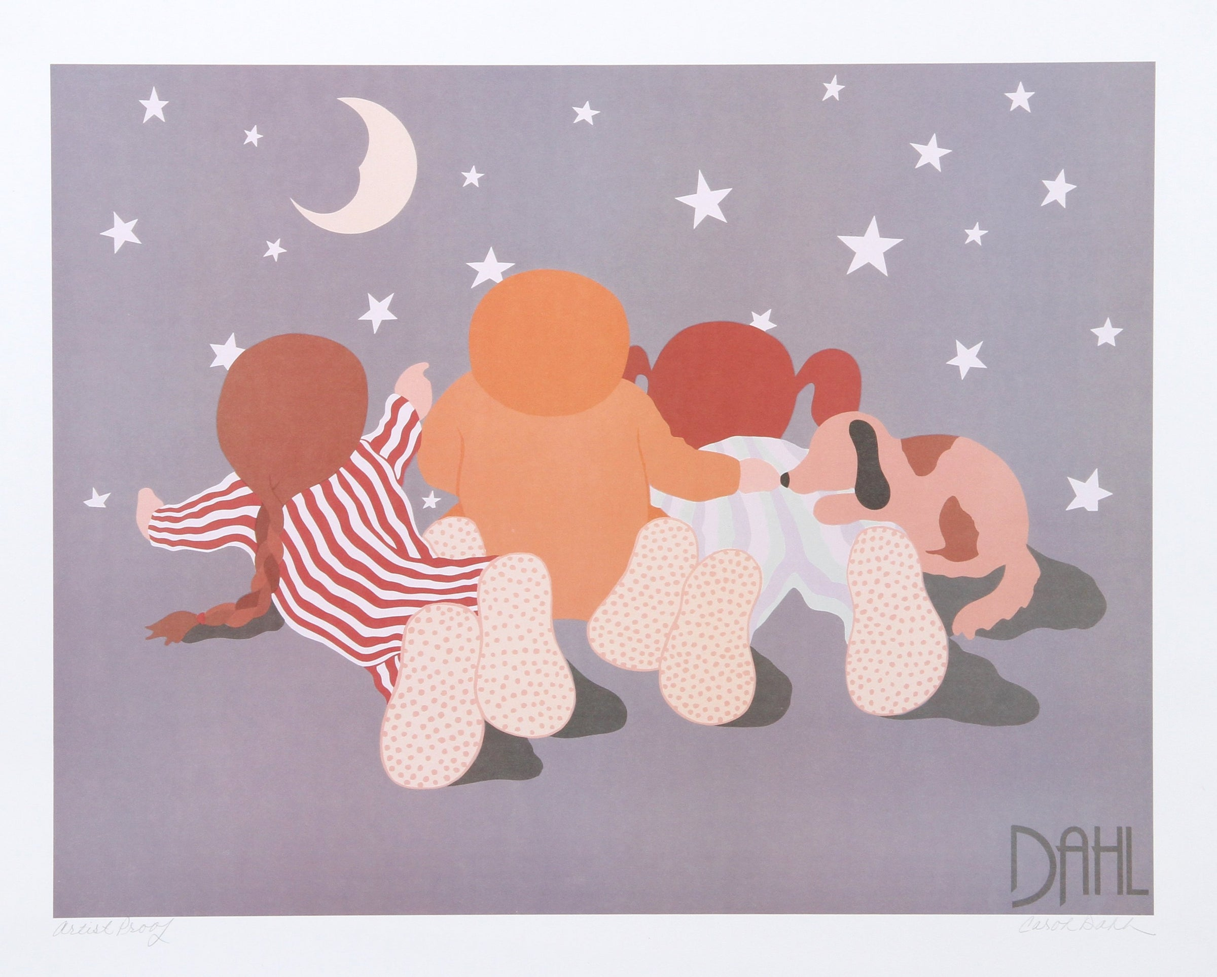 Carol Dahl, Children Screenprint - RoGallery