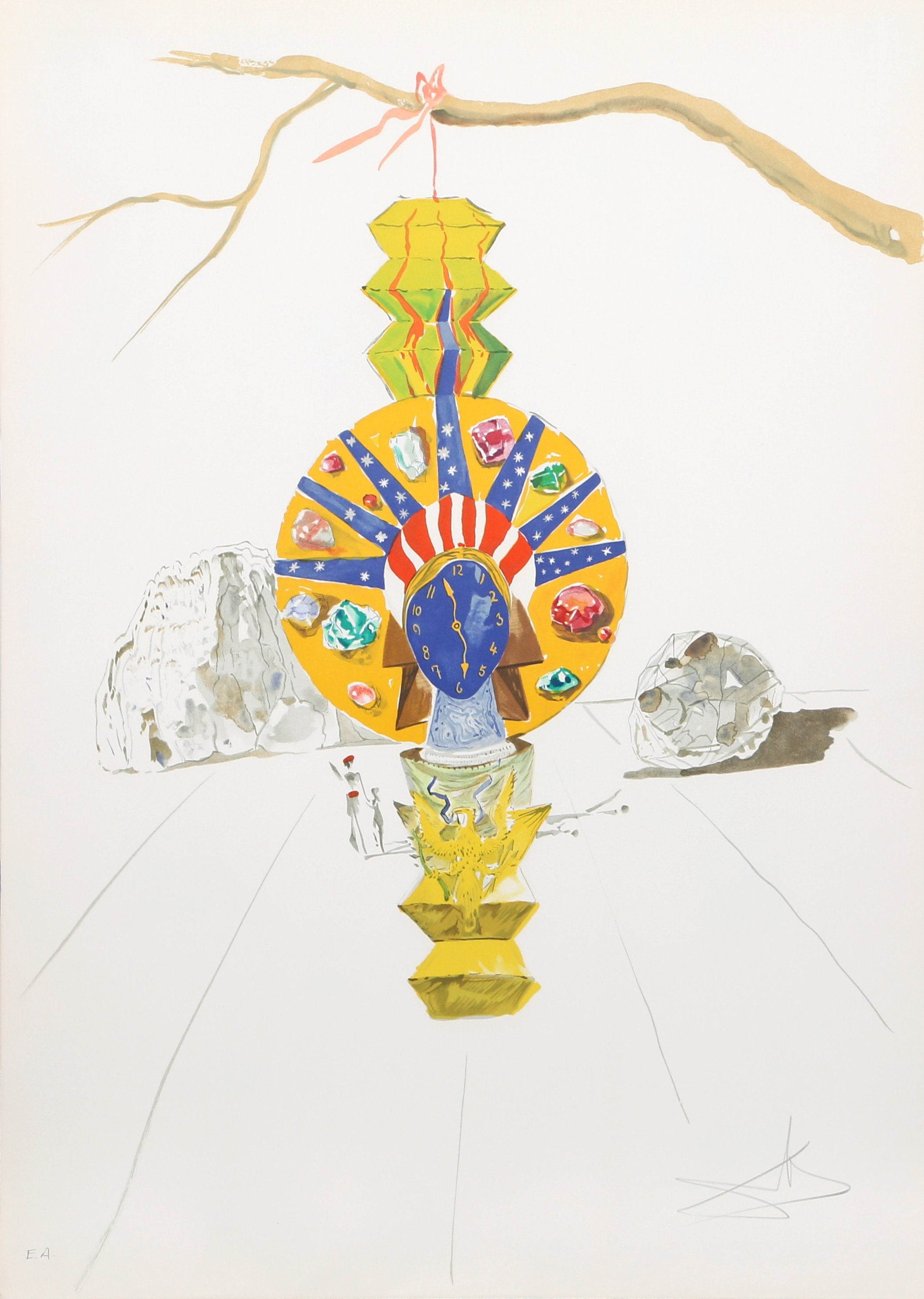 Salvador Dalí, American Clock (Timeless Statue) from Time Lithograph - RoGallery