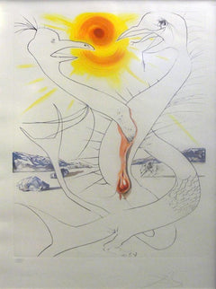 Salvador Dalí, The Caduseus of Mars Nourished by the Ball of Fire of Jupiter Etching - RoGallery