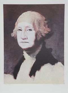 George Deem, George Washington with Powder Lithograph - RoGallery