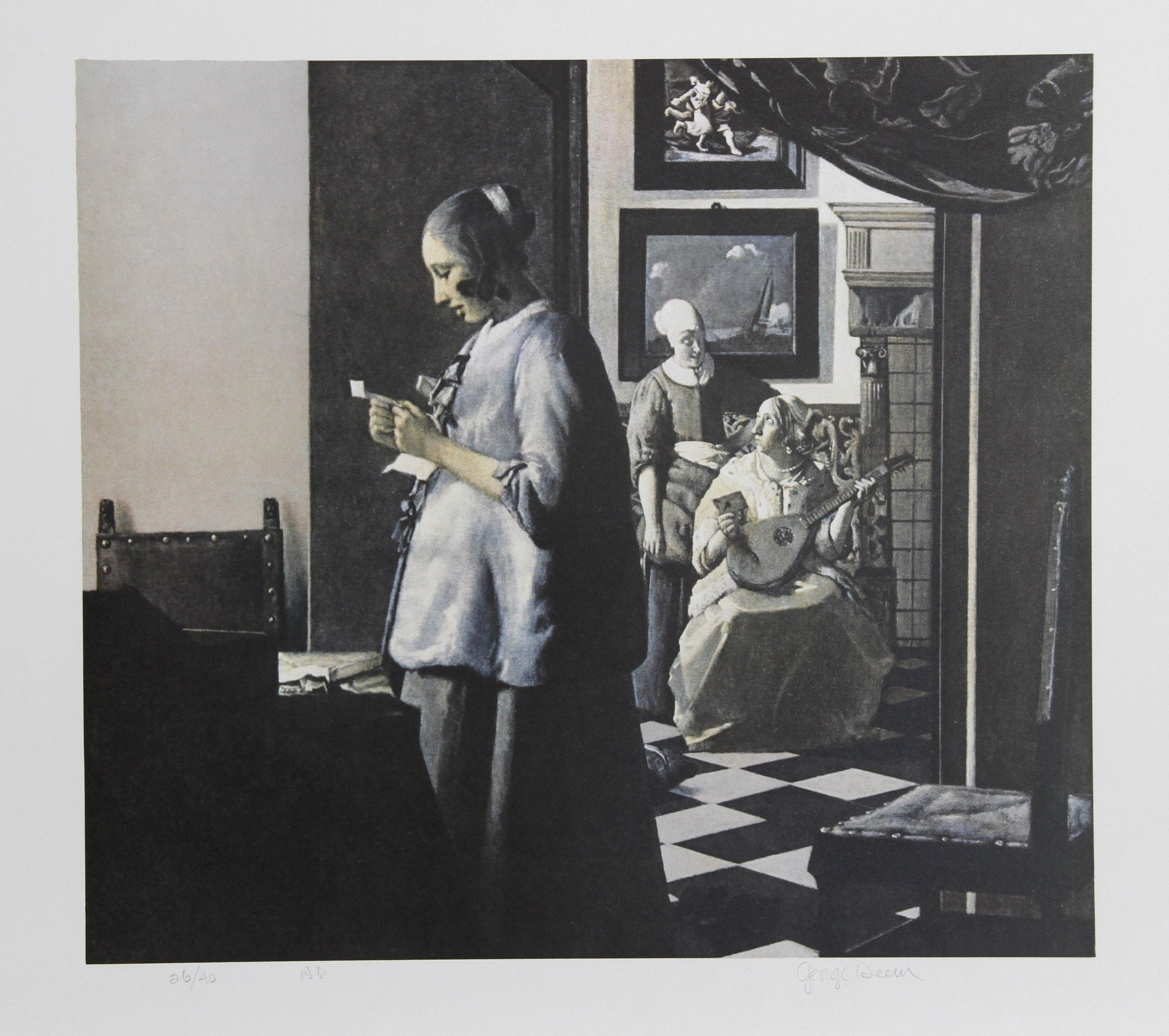George Deem, Letter from Picasso Lithograph - RoGallery