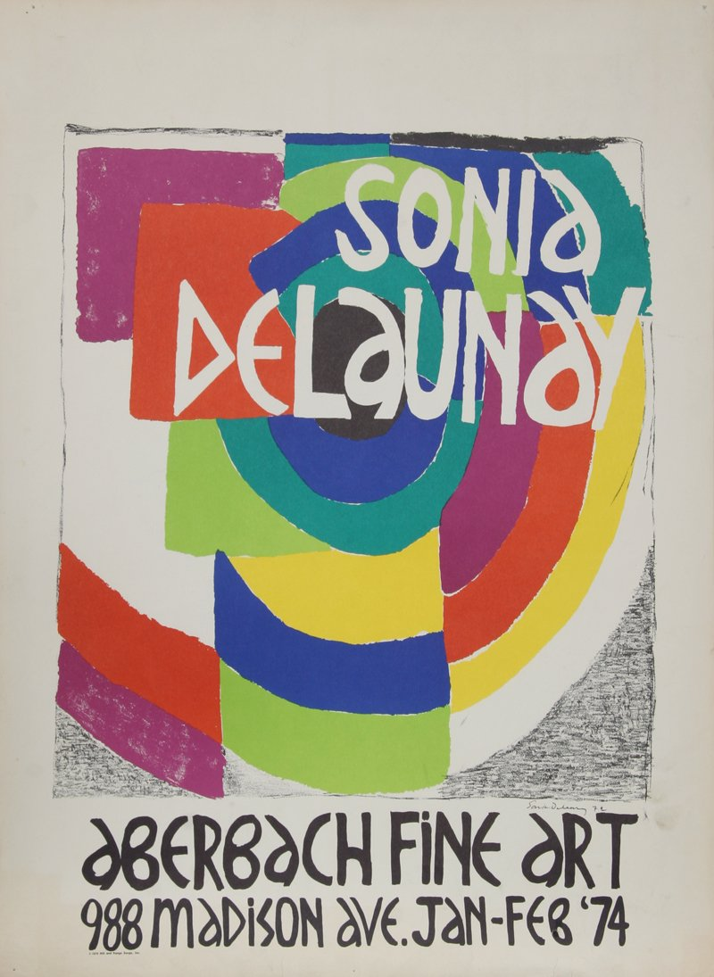 Sonia Delaunay, Exhibition at Aberbach Fine Art Poster - RoGallery