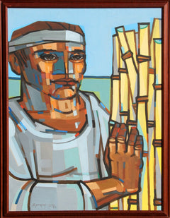 Jorge Dumas, Man with Reeds Oil - RoGallery