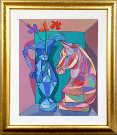 Avi Farin, Still Life with Horses Head Oil - RoGallery