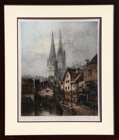 Camille Arthur Fonce, European Cathedral Etching - RoGallery