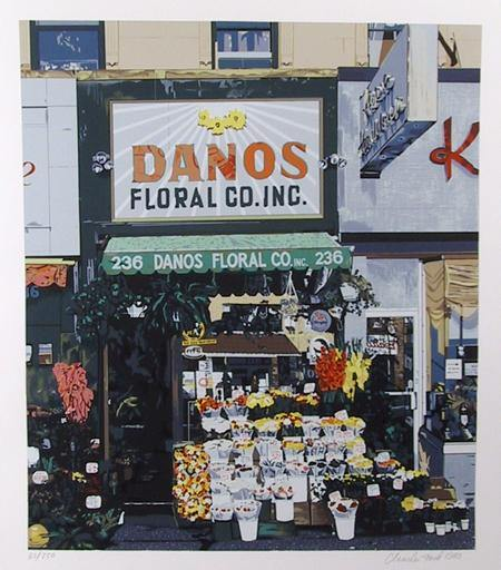 Charles Ford, Dano's Floral Screenprint - RoGallery