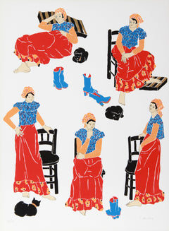 Estelle Ginsburg, Women in Interior No. 4 Screenprint - RoGallery