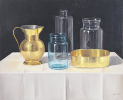 András Gombár, Pitcher with Water Vessels Still Life Oil - RoGallery