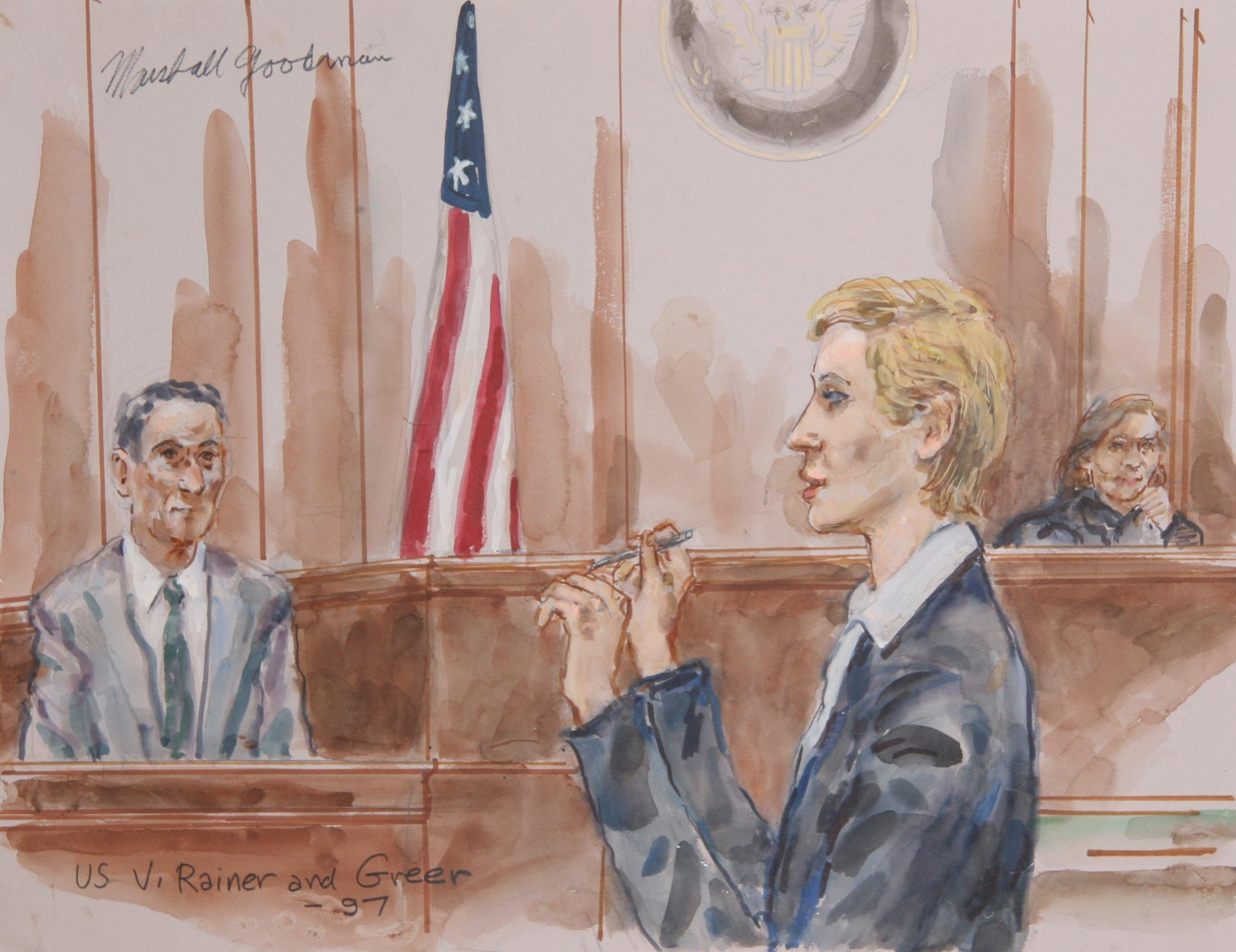 Marshall Goodman, US v. Rainer & Greer Watercolor - RoGallery