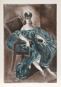 Constantin Guys, Portrait 2 from Verve Vol. II Magazine No. 5/6 Lithograph - RoGallery