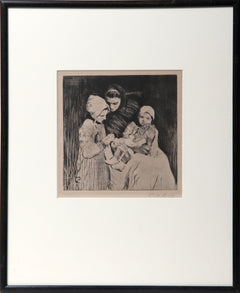 William Hankey, Knitting Lessons Etching - RoGallery