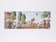 Vic Herman, Any Sunday in Chapultapec Park Lithograph - RoGallery
