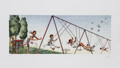Vic Herman, Swinging High Lithograph - RoGallery