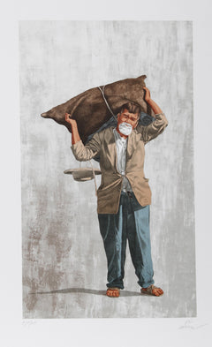 Vic Herman, The Load Is Lighter than the Years Lithograph - RoGallery