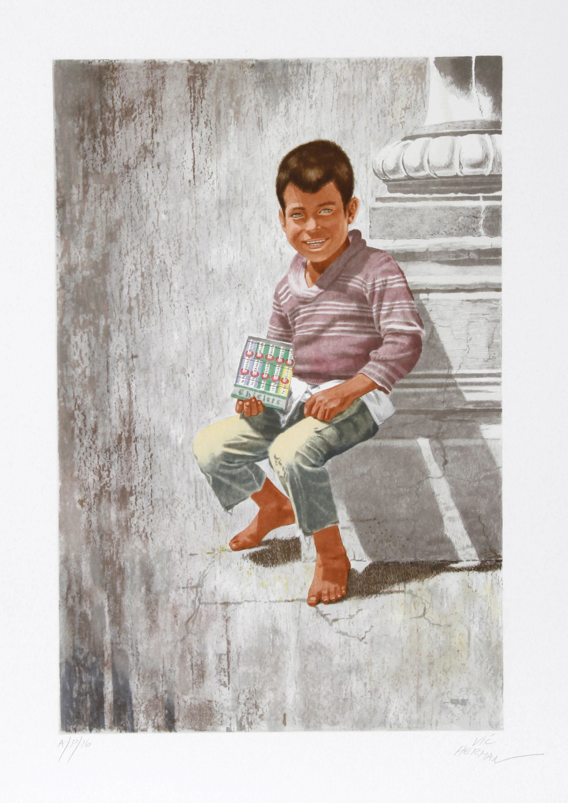 Vic Herman, Today's Chiclets are Tomorrow's Shoes Lithograph - RoGallery