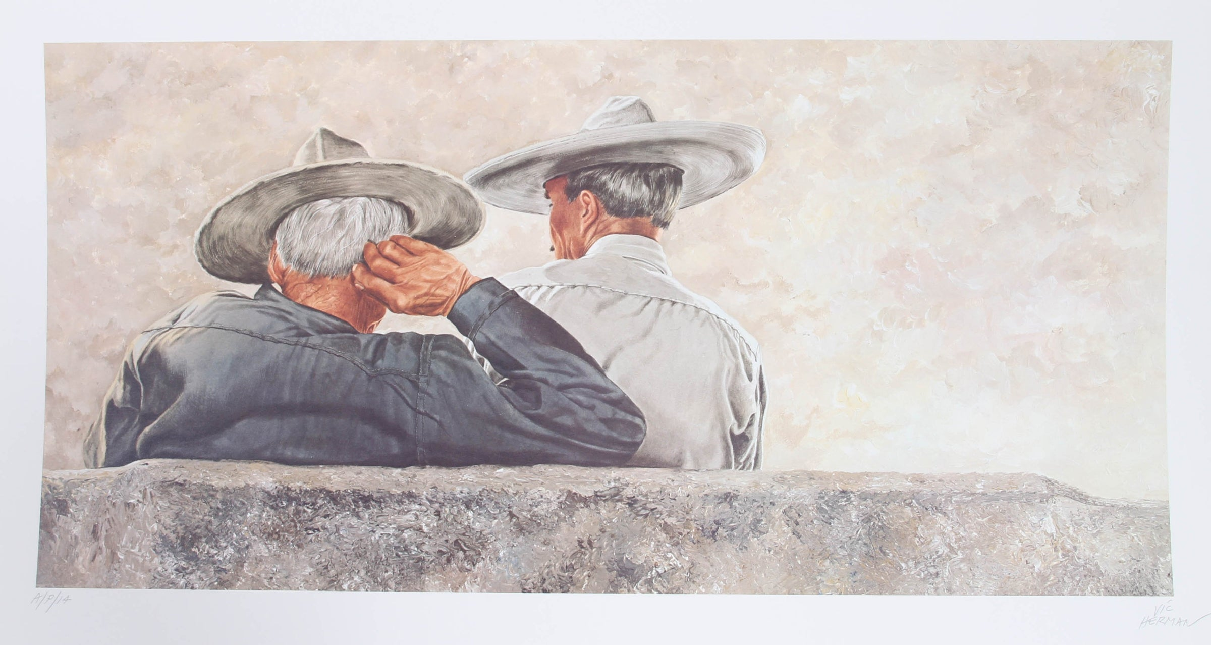 Vic Herman, Two Heads are Better Than One Lithograph - RoGallery