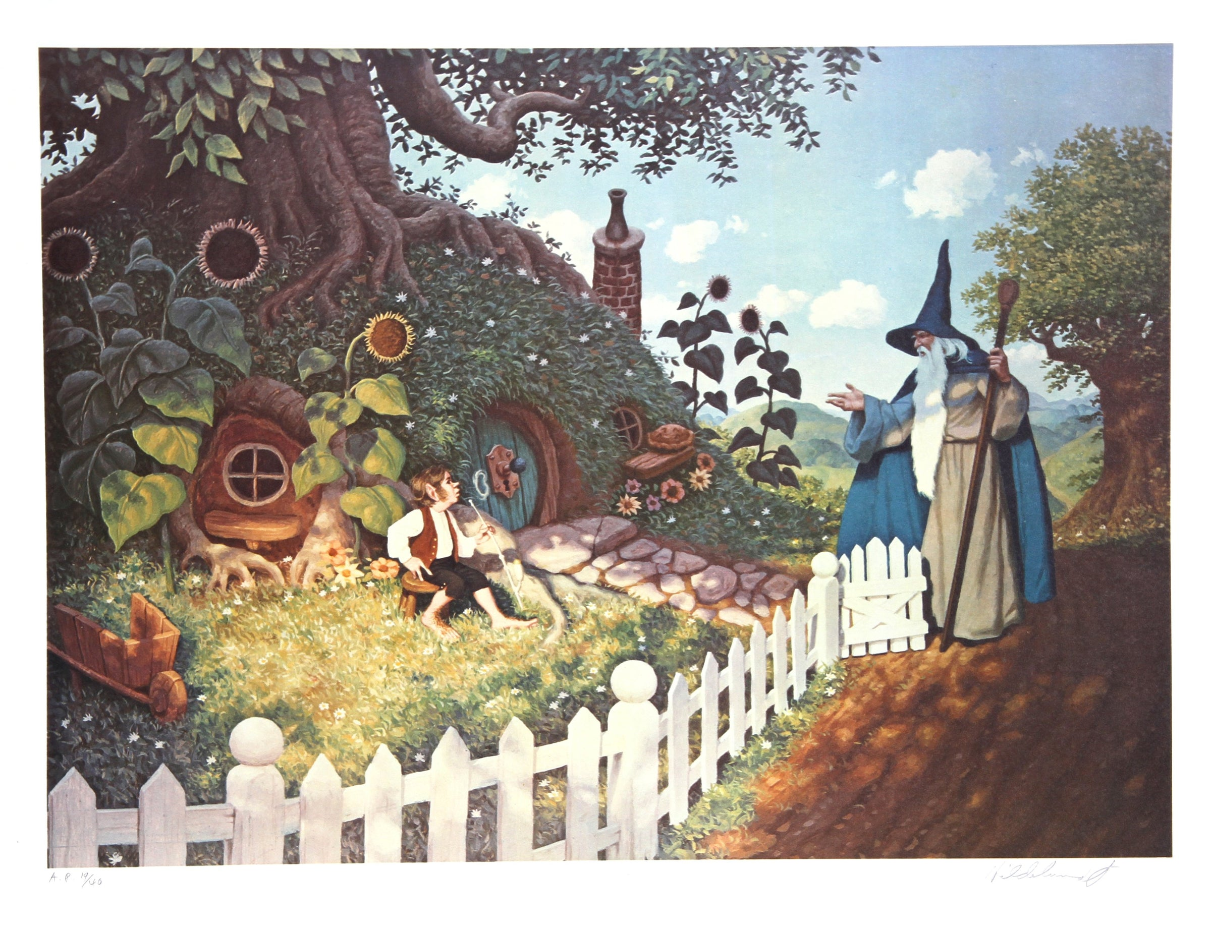 Brothers Hildebrandt, The Wizard's Visit Lithograph - RoGallery