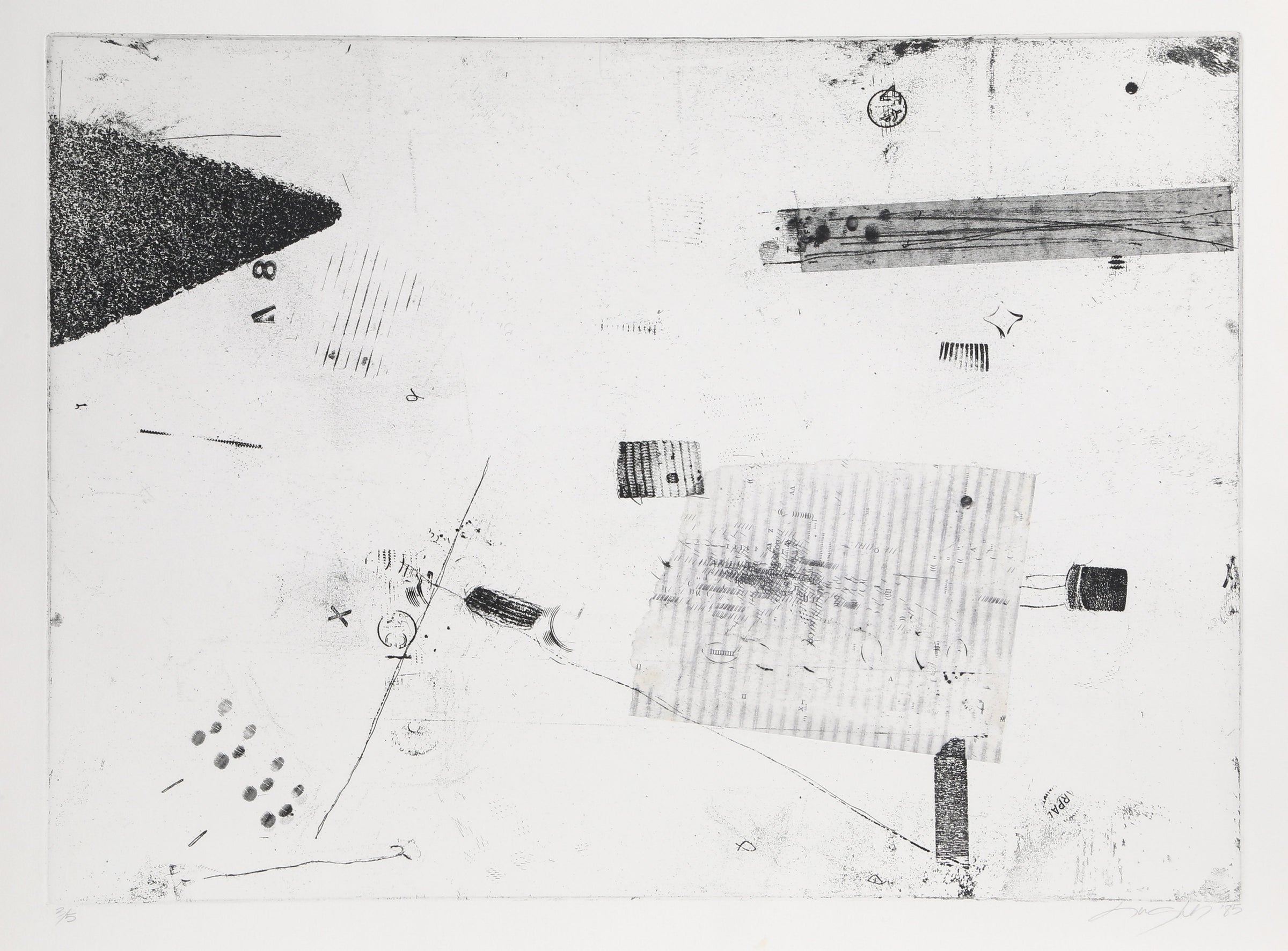 Elise Hughes-Yaworsky, Abstract  in Black and White Etching - RoGallery