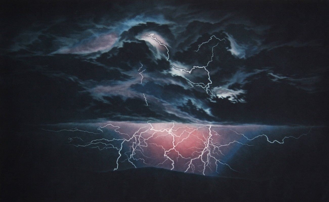 Susan Jameson, Electric Storm Etching - RoGallery