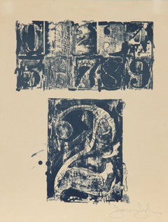 Jasper Johns, 0-9, Number 2 Lithograph - RoGallery
