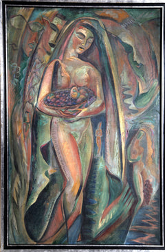 Alexander Raymond Katz, Nude with Fruit Basket Oil - RoGallery