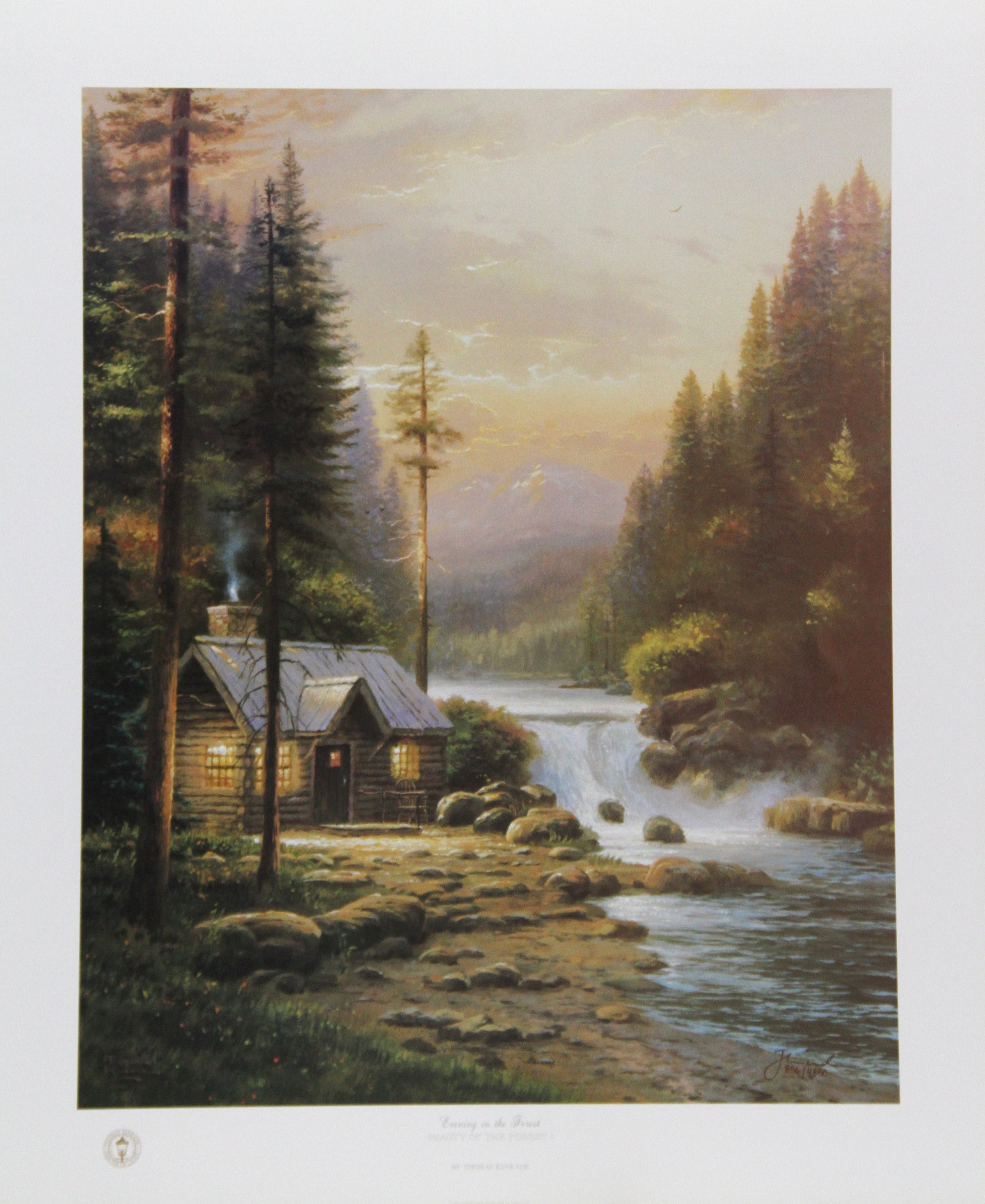 Thomas Kinkade, Evening in the Forest Lithograph - RoGallery