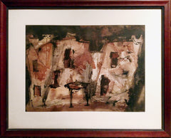 Charles Keeling Lassiter, Abstract Building Watercolor - RoGallery