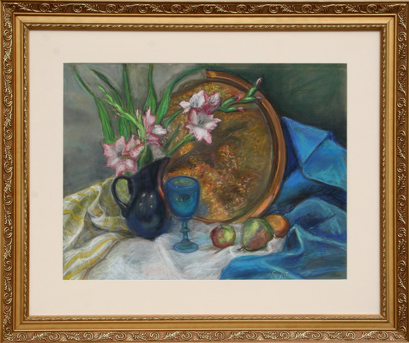 Adela Smith Lintelmann, Still Life with Flowers and Copper Platter Pastel - RoGallery