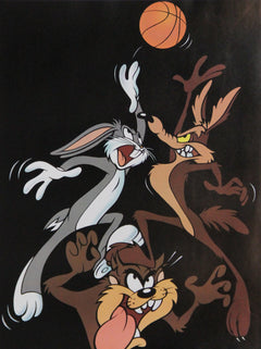 Warner Bros. Cartoons, Bugs, Wile E. Coyote, and Taz Basketball Poster - RoGallery