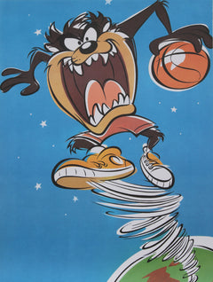 Warner Bros. Cartoons, Taz with Basketball Poster - RoGallery