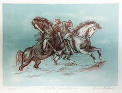Enrico Molino, Stallion (after Delacroix) Lithograph - RoGallery