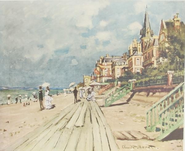 Claude Monet, Beach at Trouville Poster - RoGallery