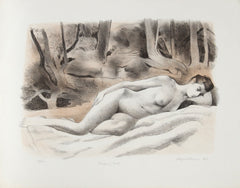 August Mosca, Sleeping Nude Lithograph - RoGallery
