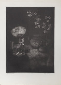 Olivia Munroe, Glass and Baskets Etching - RoGallery