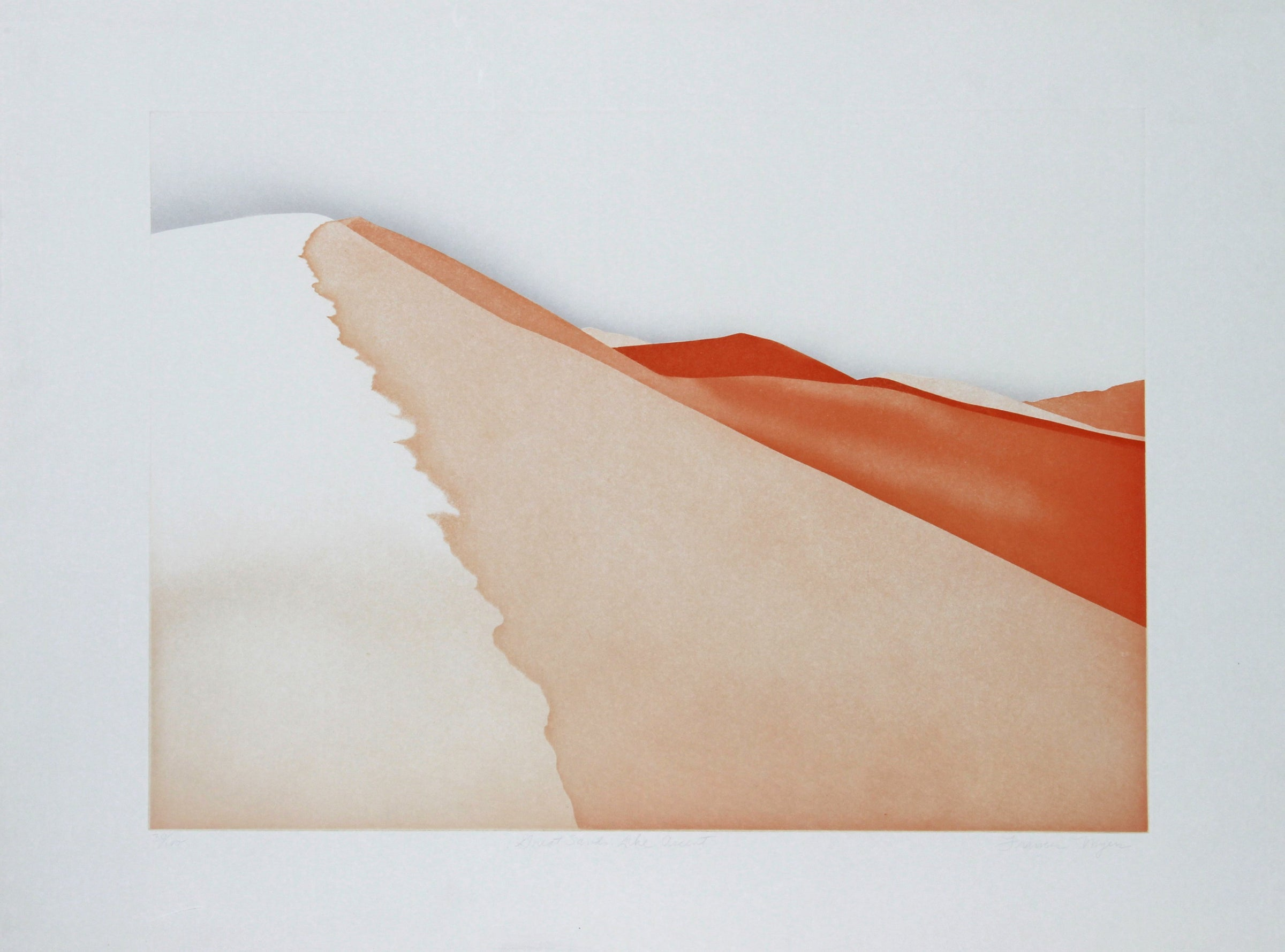 Frances Myers, Great Sands, The Ascent Etching - RoGallery