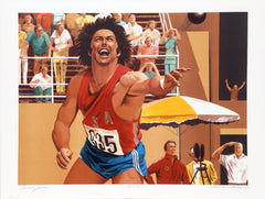 William Nelson, Shot Put from the Bruce Jenner Decathlon Suite Lithograph - RoGallery