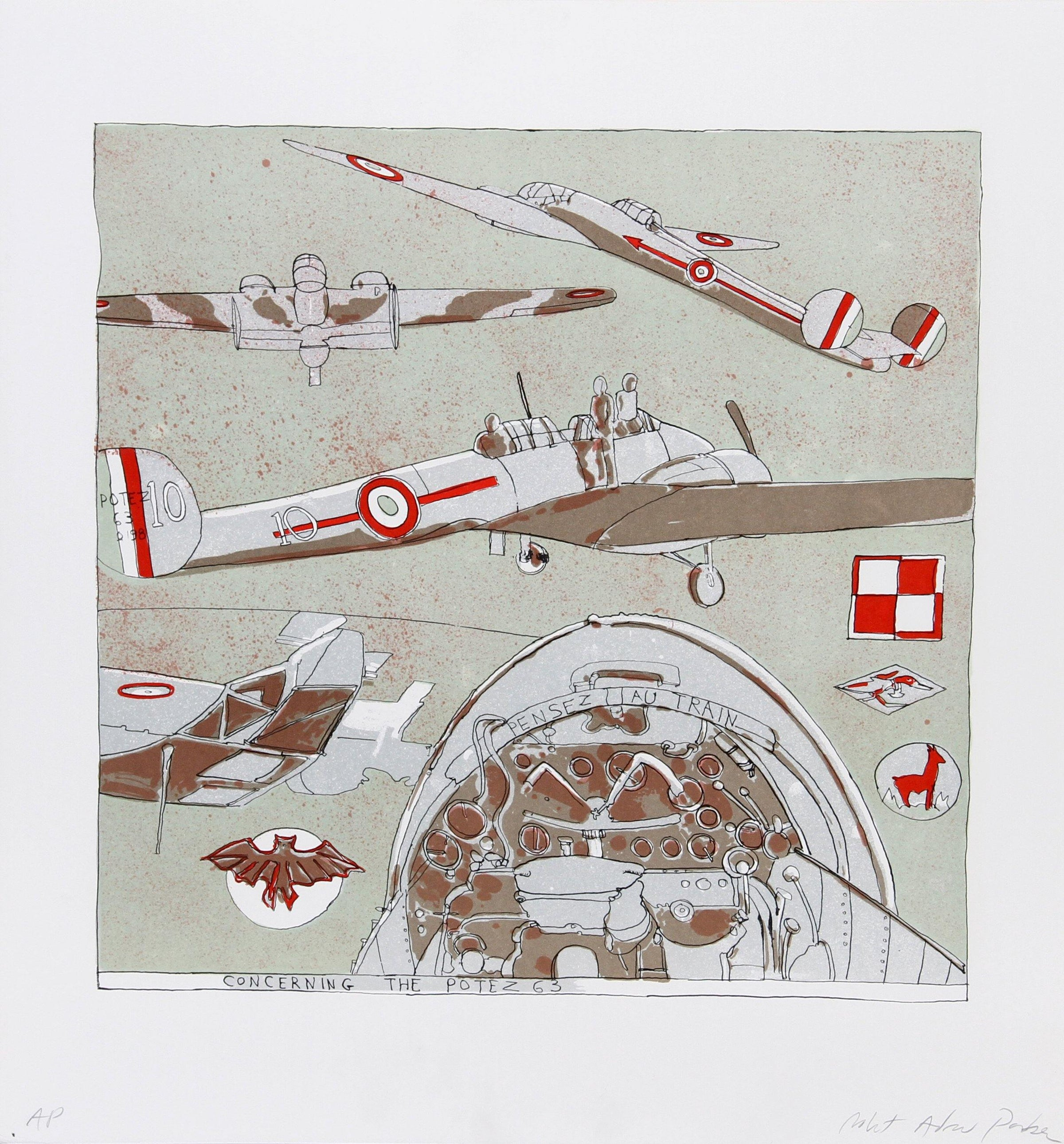 Robert Andrew Parker, Concerning the Potez 63 Lithograph - RoGallery